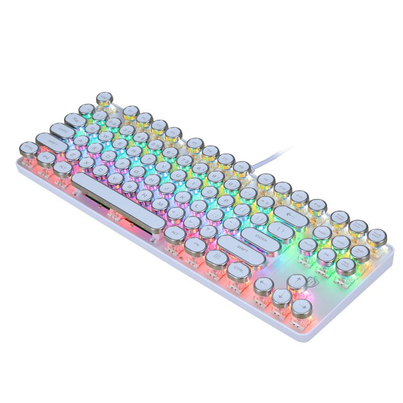 朋克机械键盘87键游戏键
